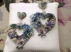 Earrings for San Valentino.  Handmade. Sole piece.  Made in Italy by Morfosys Original Creations.  € 29 +forwarding charges.