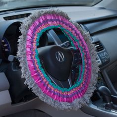Steering Wheel Covers: Colorful Fringed Steering Wheel Covers From Natural Life