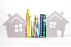 Podpórka+do+książek+domek+szary+w+BASTAMA+na+DaWanda.com