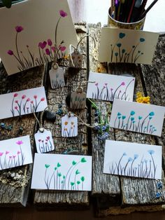 Watercolors little cards handmade                                                                                                                                                                                 More