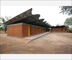 Francis Kere's sustainable architecture, a primary school , the village of Gando, Burkina Faso