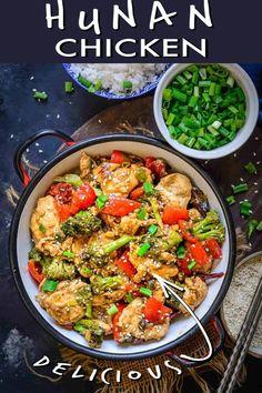 Best Chicken Recipes, Grilled Chicken Recipes, Meat Recipes, Asian Recipes, Ethnic Recipes, Dinner Recipes, Hunan Chicken Recipe, Indian Paneer Recipes, Chicken Stir Fry With Noodles