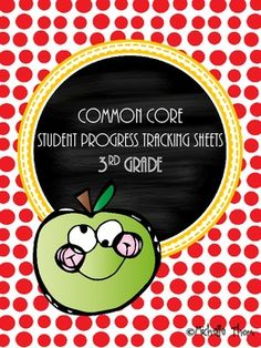Common Core Student Progress Tracking Sheets for 3rd grade. A must have for anyone using the Common Core State Standards along with Standard Based Report Cards! $