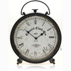 Zegar Colonial czarny - BelleMaison.pl