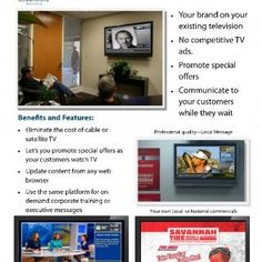 Private Television       Your own private TV network 10 Foot Wave | 7401 Carmel Executive Park Drive, Suite 106, Charlotte NC 28226 | www.10footwa. http://slidehot.com/resources/screen-wave-private-tv-2-page-rev-1-21.65056/