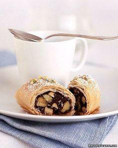 Chocolate-Pistachio Phyllo Rolls Recipe