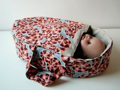 Straight Grain. Simple Doll Bassinet #sewing #tutorial