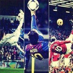 All doing bicycles Cristiano Ronaldo And Messi, Wayne Rooney, Bicycles, Soccer, Baseball Cards, Game, Futbol, European Football, Gaming