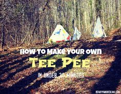 Kids Boredom Busters: Build your own tee pee in 30 minutes with items you have on hand. www.beautyandbedlam.com
