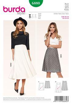 Burda Style B6880 Skirt Sewing Pattern
