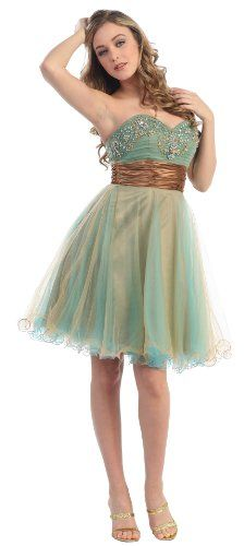 Strapless Cocktail Party Junior Prom Dress #2651 « Dress Adds Everyday