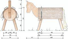 die skizze zu unserem holzpferd geschenke wood crafts kids wood und wood. Black Bedroom Furniture Sets. Home Design Ideas