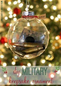 #DIY keepsake ornament for the #military man