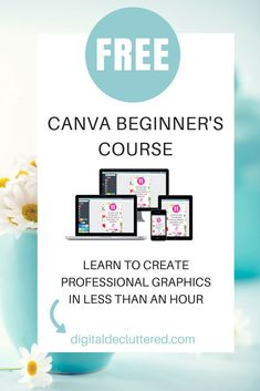 Are you ready to rock the basics of Canva? It's easy with this free beginner's course – learn to adapt templates and create your own original designs. Graphic Design Tools, Web Design, Tool Design, Layout Design, Marketing Digital, Social Media Marketing, Online Marketing, Affiliate Marketing, Internet Marketing