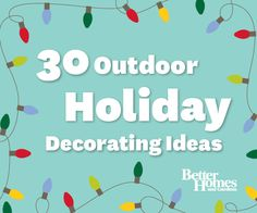 #Decorate the outside of your home with these festive ideas! More outdoor inspiration: http://www.bhg.com/christmas/outdoor-decorations/outdoor-christmas-lights/