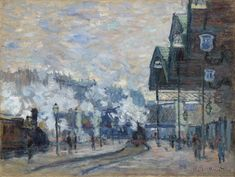Claude Monet's La Gare Saint-Lazare, vue extérieure (1877). Image courtesy of Christie's Images Ltd.
