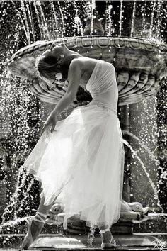 dancing in a fountain