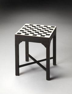 Bone Inlay Bishop Transitional Inlay Wood MDF Bunching Chess Table