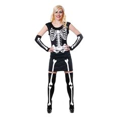 Bring a sexy twist to this iconic style and get all of the attention this Halloween. Dress, gloves and hold ups