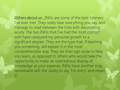 Interesting and positive reflections about the INFJ style. www.julielichty.com