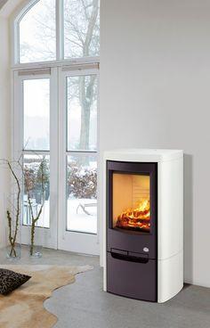Upea vuolukivipintainen Tulikivi Tanka-kamiina valkoisella Color-pinnoitteella! Wood, Home Appliances, Home, Log Cabin, Cozy Cottage, Stove, Cozy, Fireplace, Wood Stove