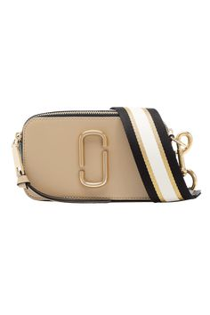 The Snapshot Small Camera Bag, a small camera-style bag in Saffiano leather with an adjustable crossbody strap. Marc Jacobs Crossbody Bag, Marc Jacobs Bag, Leather Crossbody Bag, Crossbody Bags, Marc Jacobs Snapshot Bag, Vanity Bag, Sand Bag, Fashion Bags, High Fashion