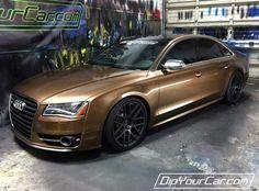 Audi A8 Dip your Car Plasti Dip Brown Copper