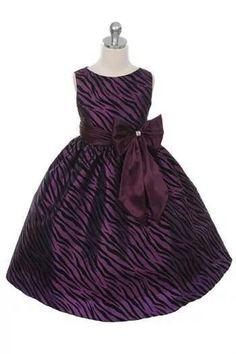 551a73e67b Girl s Sleeveless Purple Zebra Printed Party Dress by Elitedresses Girls  Holiday Dresses