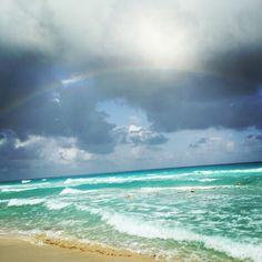 Beach and rainbow