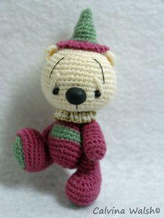 Dusty a Mini Anime Chibi Crochet Artist Teddy Bear of Thread