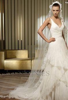 Vestido de novia sexy Con velo Falta Natural primavera Corte princesa