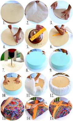 I'm addicted to making tiny ottomans….also known as tuffets. I can't help it, they are just so damn cute. The tuffet is the equival… – Diy Déco Tire Furniture, Furniture Decor, Diy Home Crafts, Diy Home Decor, Sewing Crafts, Diy Ottoman, Old Tires, Furniture Makeover, Diy Bedroom Decor