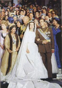 Juan Carlos, Prince of Asturias and Princess Sophia of Greece and Denmark - Church of Saint Dennis, Athens - May 1962.