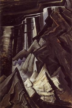 Emily Carr, Untitled (Forest Interior Black and Grey), c. Oil on paper on board, x cm, Vancouver Art Gallery. Canadian Painters, Canadian Artists, Emily Carr Paintings, Vancouver Art Gallery, Tom Thomson, Graphic Art Prints, Thing 1, Impressionist Paintings, Artist Art