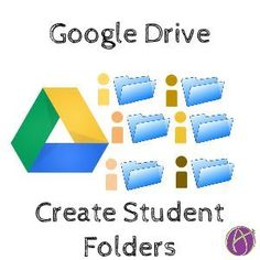Create a Folder for Each Student - thanks Teacher Organization, Teacher Tools, Teacher Resources, Student Folders, Student Work, Student Teacher, Google Drive, Teaching Technology, Educational Technology