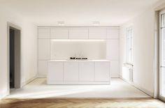 Umbau Haus Walkestrasse: minimalistische Küche von Wagner Vanzella Architekten