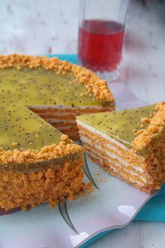 Просто и вкусно: Торт с фруктово-творожным кремом.