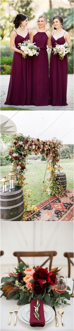 Greenry And Burgundy Fall Winter Wedding Color Ideas Weddingideas Weddingcolors Greenwedding