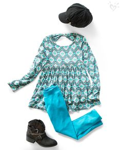 Say hello to the babydoll tee, our swingiest silhouette, which pairs perfectly with made-to-match leggings!