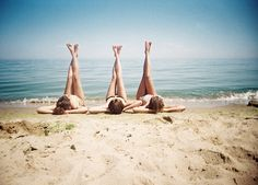 What's better than being with friends? Being with friends on the beach!