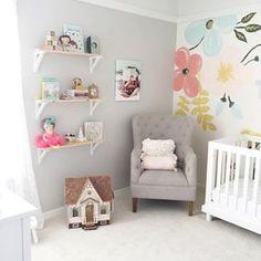 Mural+infantil+de+flores+para+la+habitación+del+bebé+|+DECORACIÓN+BEBÉS