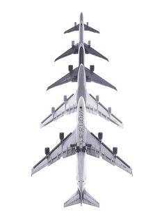 avions / noir et blanc
