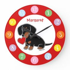 Black and Tan Smooth Haired Dachshund Large Clock dachshund facts, dachshund cartoon, long haired dachshund Dachshund Facts, Dapple Dachshund Puppy, Dachshund Quotes, Long Haired Dachshund, Funny Dachshund, Weenie Dogs, Chihuahua Dogs, Pet Dogs, Miniature Dachshunds