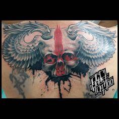 Павел Угольков Skull, Tattoos, Armadillo, Tatuajes, Tattoo, Tattos, Skulls, Sugar Skull, Tattoo Designs