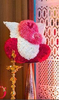 Stage Decorations, Festival Decorations, Flower Decorations, Indian Wedding Theme, Indian Wedding Decorations, Wedding Set Up, Wedding Events, Weddings, Ganesh Chaturthi Decoration