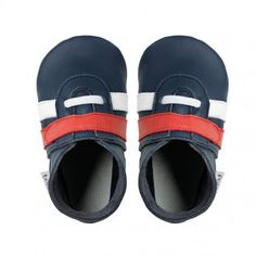 new! Bobux soft sole sport in navy