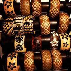 Any bracelet you like, please specify which one and its yours. I hand weave the lauhala over a wooden core bangle. And I woodburn the