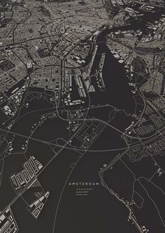 Amsterdam City Map Art Print By Maptastix Numbered - This Numbered Edition Giclee Art Print Designed By Maptastix Comes With A Numbered And Signed Certificate Of Authenticity Printed On Cotton Acid Free Heavyweight Paper Using Hdr Ultrachrome A Design Poster, Map Design, Poster Layout, Graphic Design, Design Portfolio Layout, City Layout, City Map Poster, Amsterdam City, City Maps