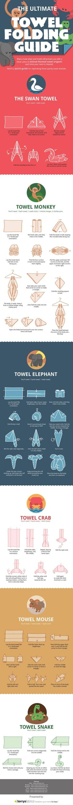 How to fold towels into animals