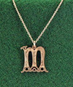Celtic Letter M Initial Necklace Gospels of by CelticaTreasures